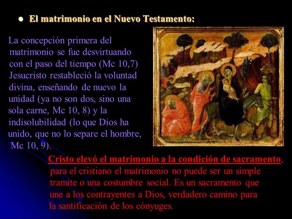 El matrimonio en el Nuevo Testamento: