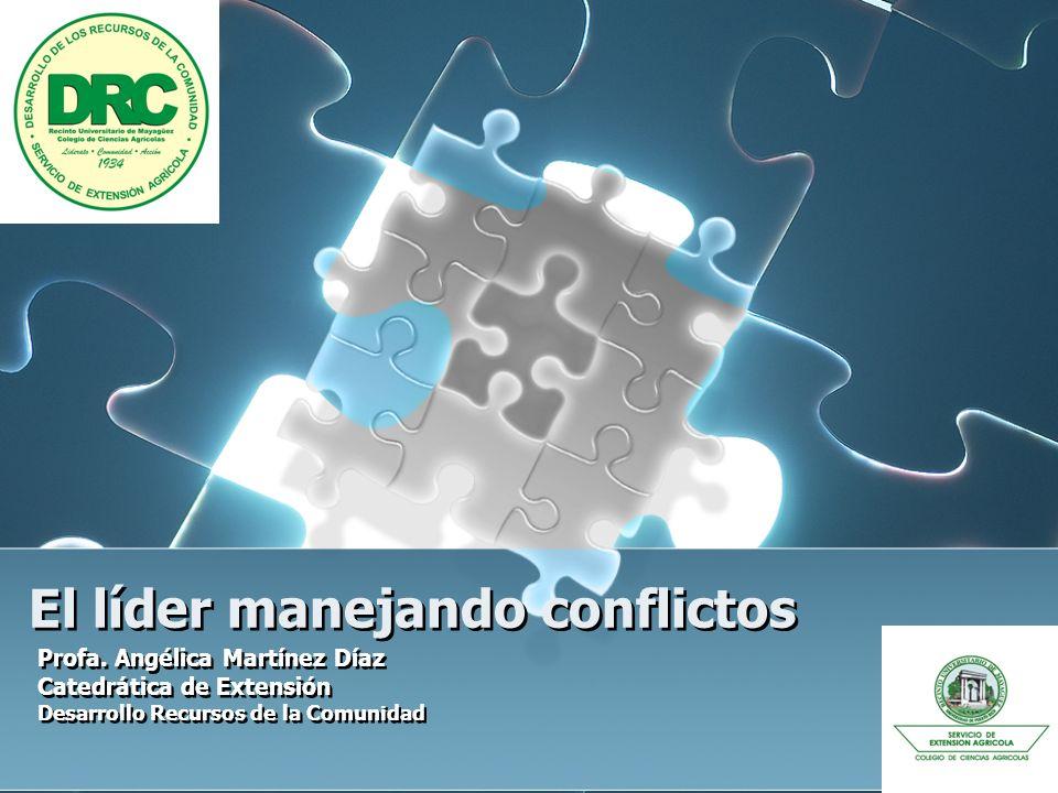 El líder manejando conflictos