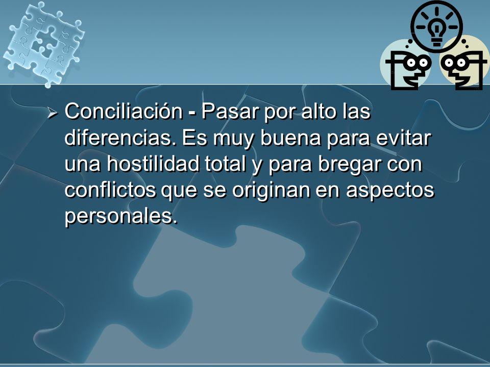 Conciliación - Pasar por alto las diferencias