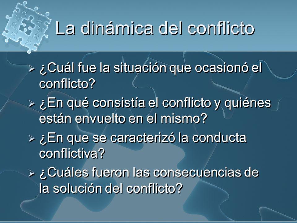 La dinámica del conflicto