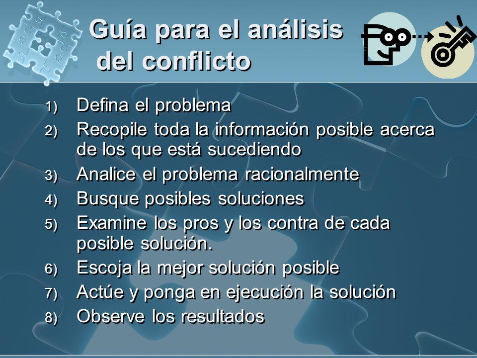 Guía para el análisis del conflicto
