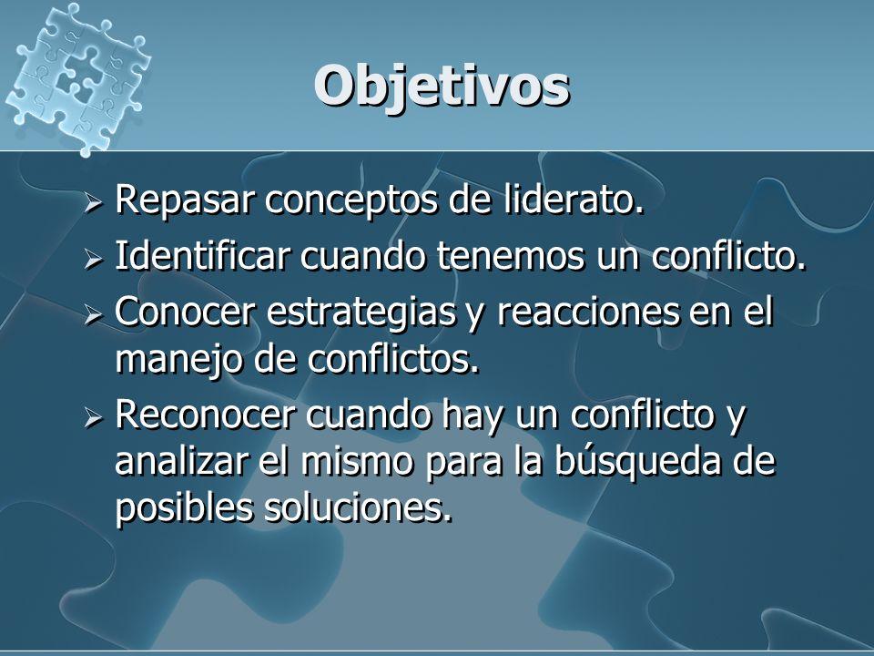 Objetivos Repasar conceptos de liderato.