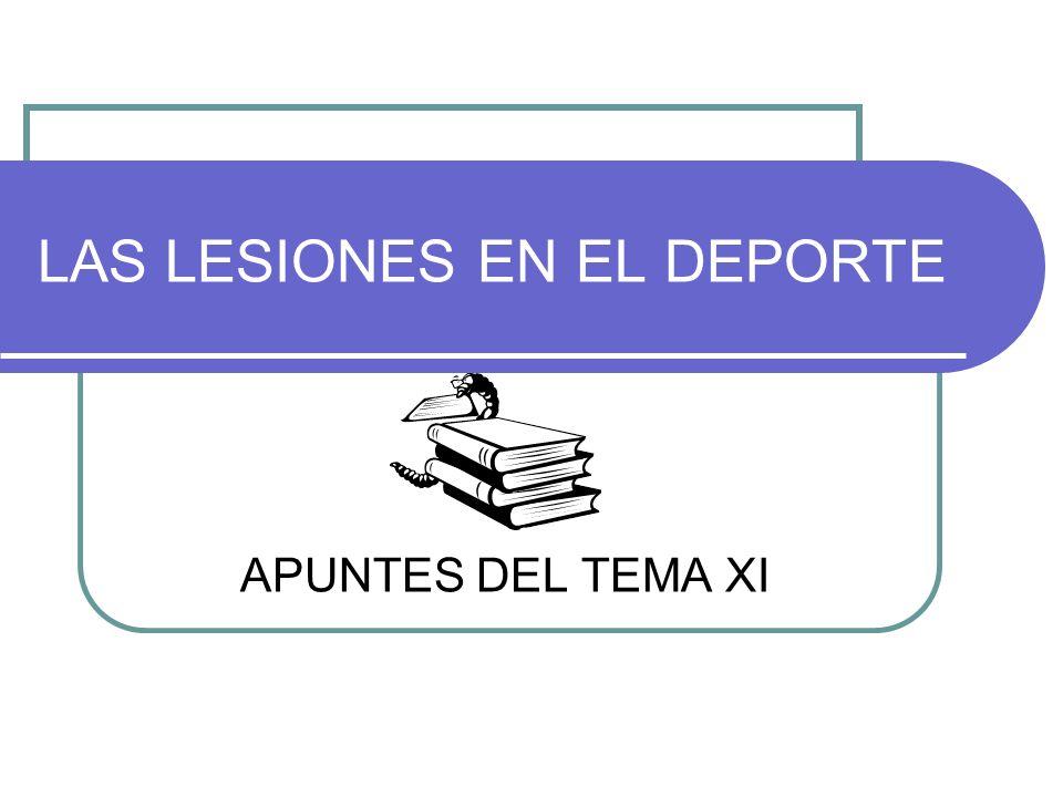 LAS LESIONES EN EL DEPORTE