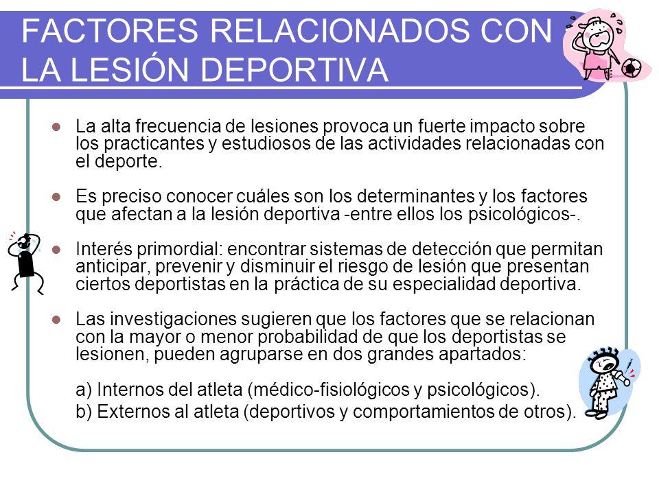 FACTORES RELACIONADOS CON LA LESIÓN DEPORTIVA