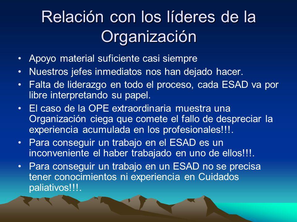 Relación con los líderes de la Organización