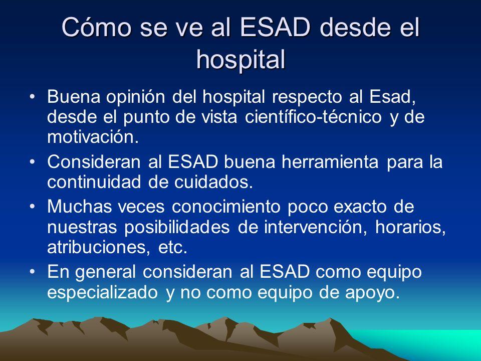 Cómo se ve al ESAD desde el hospital