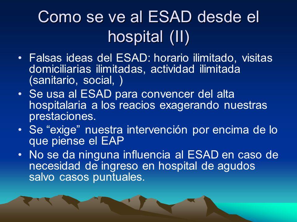 Como se ve al ESAD desde el hospital (II)