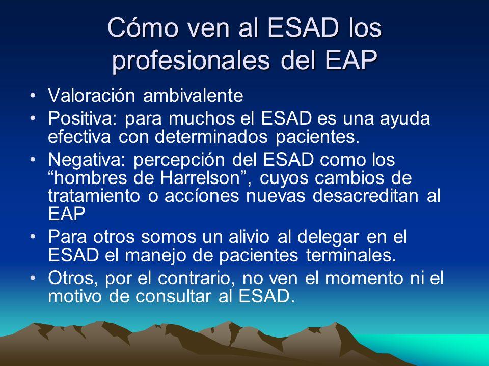Cómo ven al ESAD los profesionales del EAP