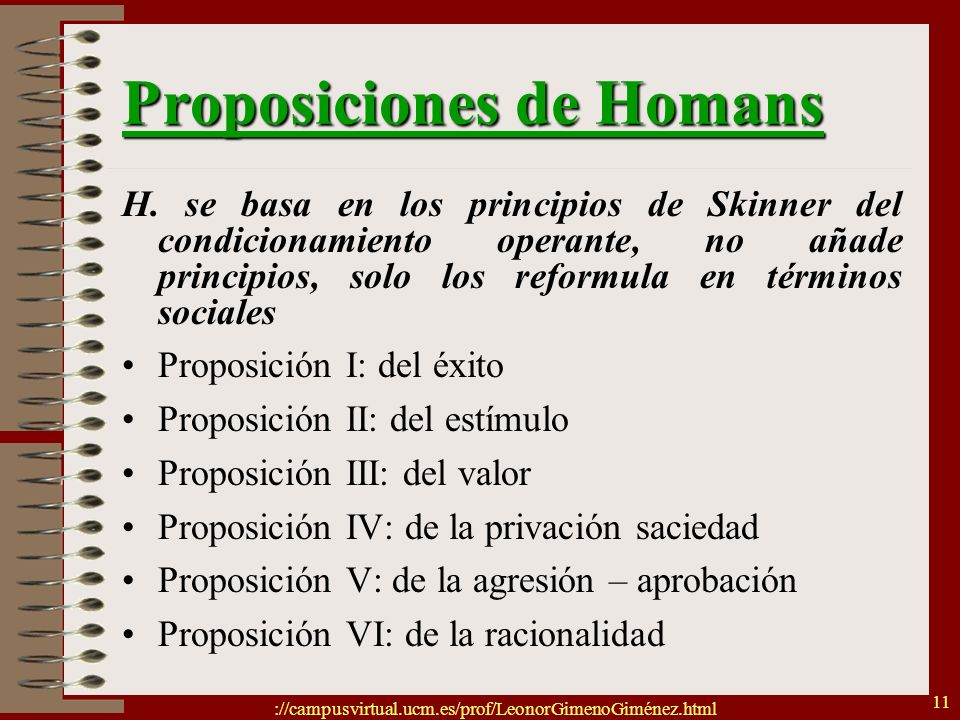 Proposiciones de Homans