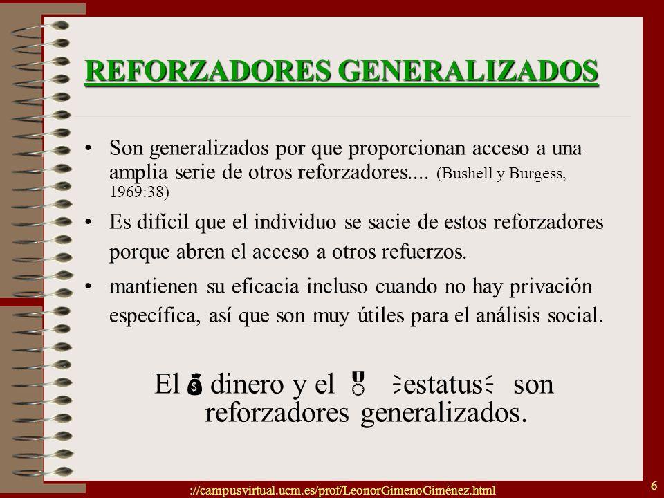 REFORZADORES GENERALIZADOS