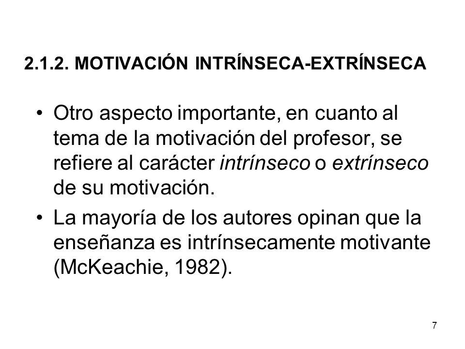 2.1.2. MOTIVACIÓN INTRÍNSECA-EXTRÍNSECA