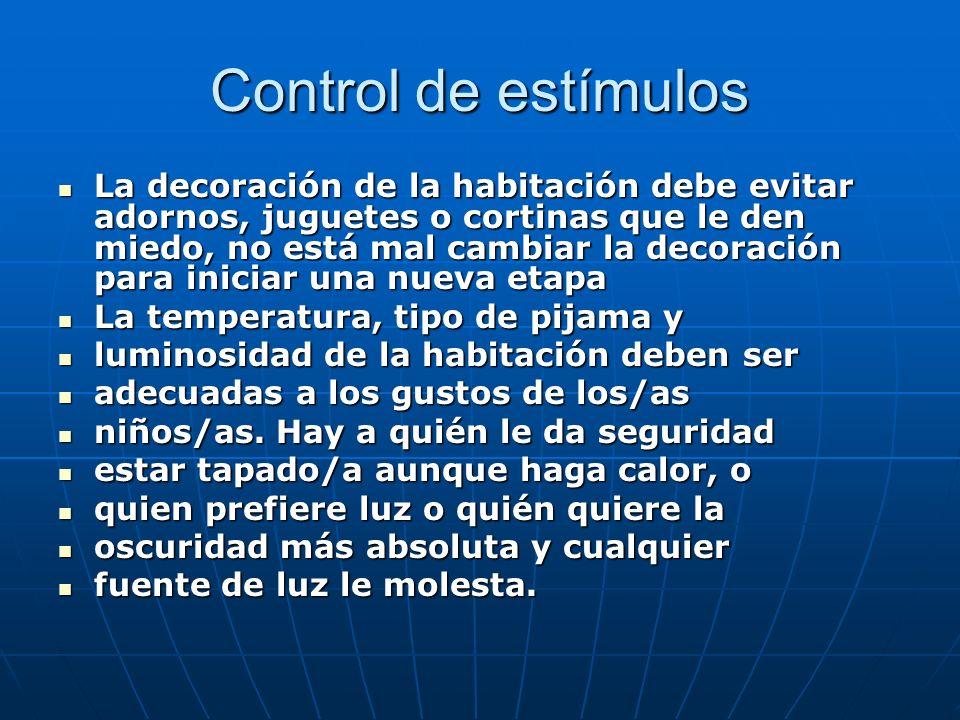 Control de estímulos