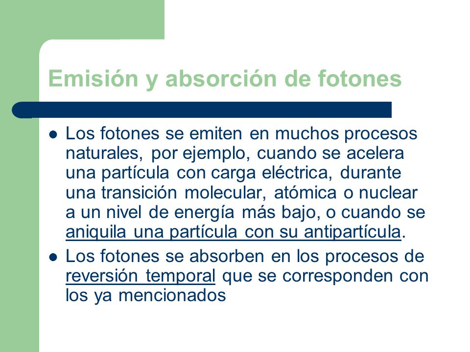 Emisión y absorción de fotones