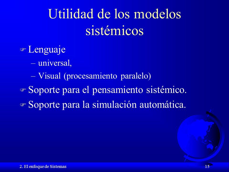 Utilidad de los modelos sistémicos