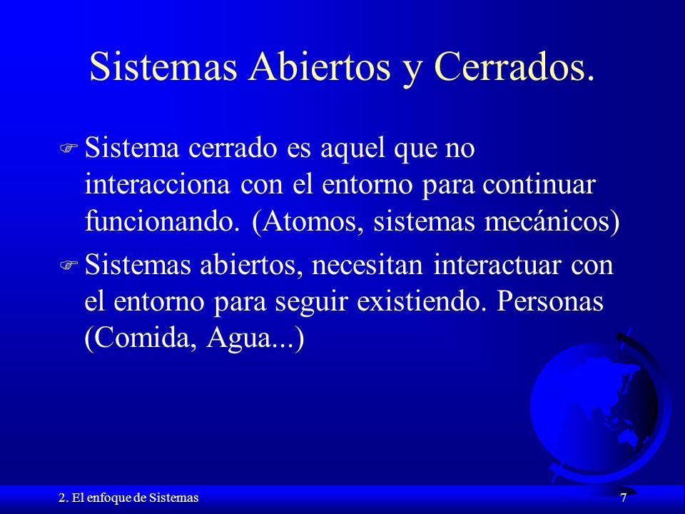 Sistemas Abiertos y Cerrados.