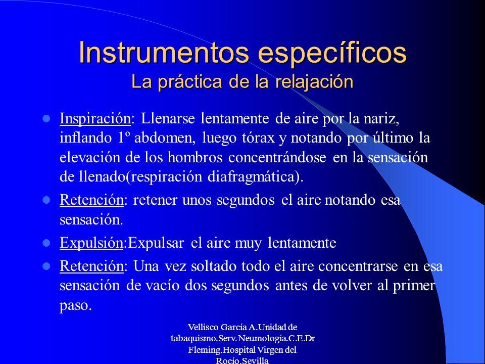 Instrumentos específicos La práctica de la relajación