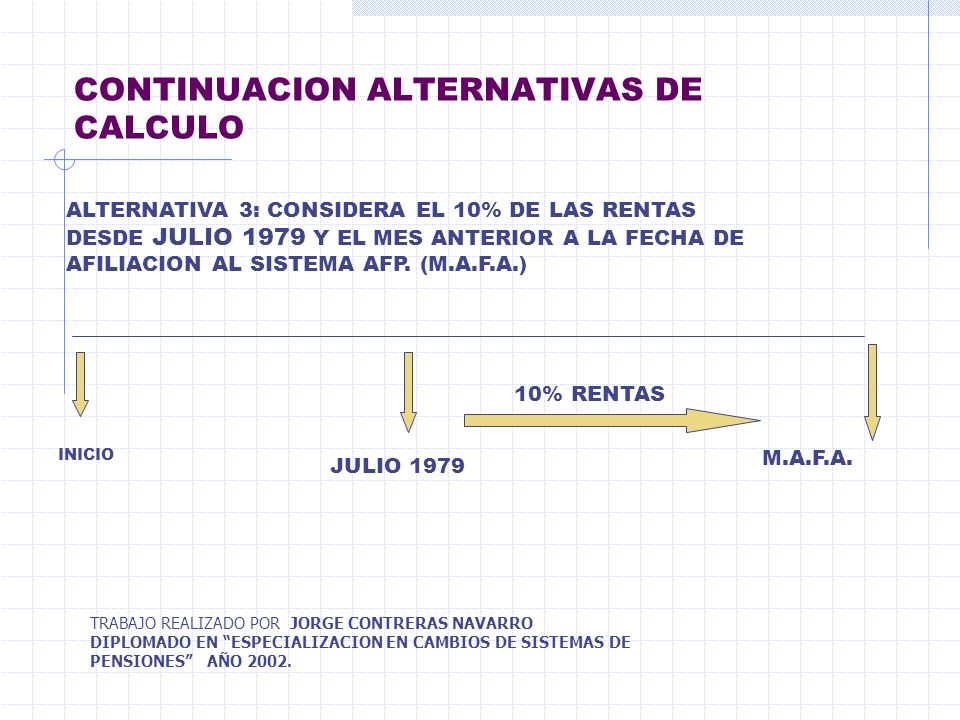 CONTINUACION ALTERNATIVAS DE CALCULO