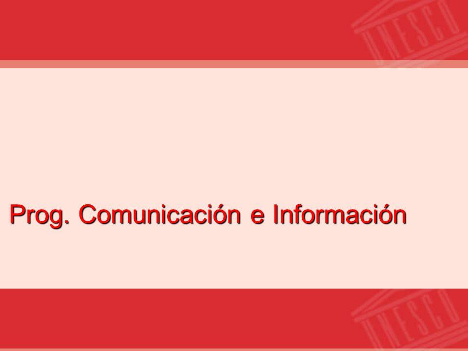 Prog. Comunicación e Información