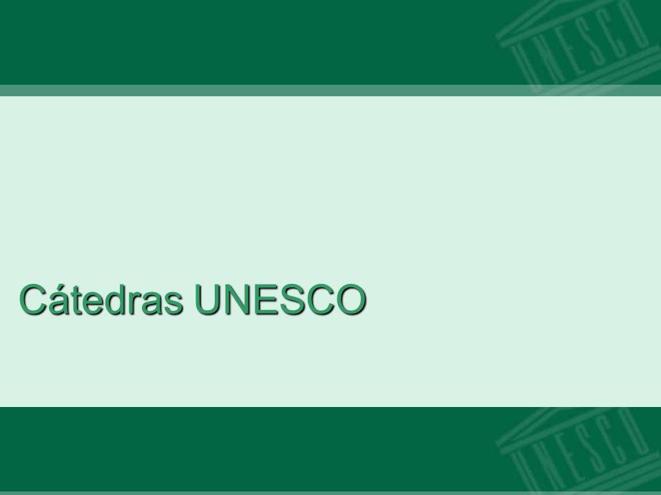 Cátedras UNESCO