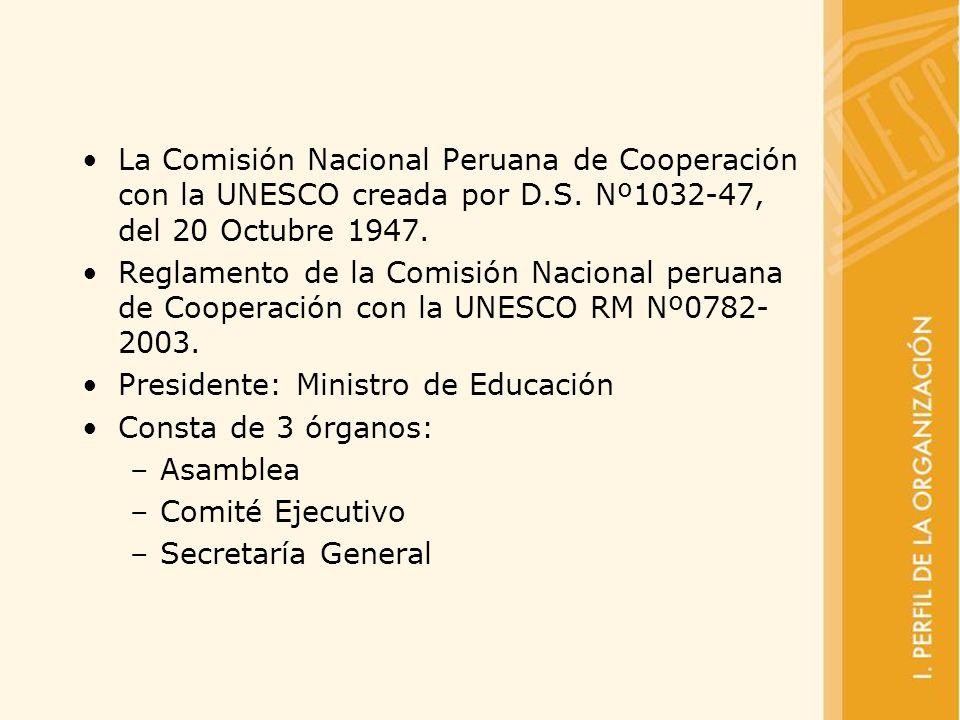 La Comisión Nacional Peruana de Cooperación con la UNESCO creada por D