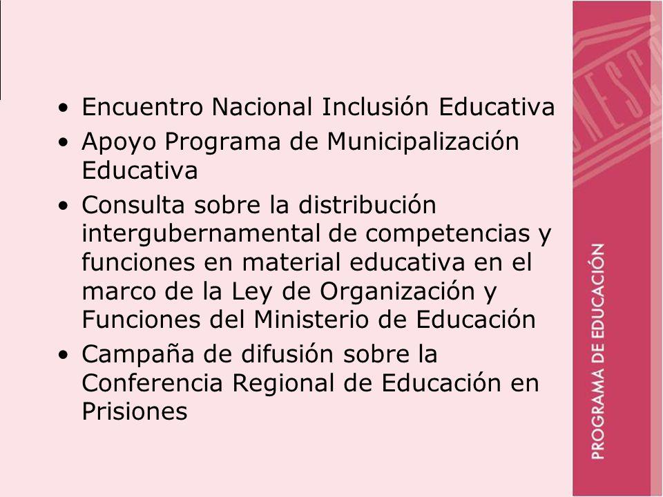 Encuentro Nacional Inclusión Educativa