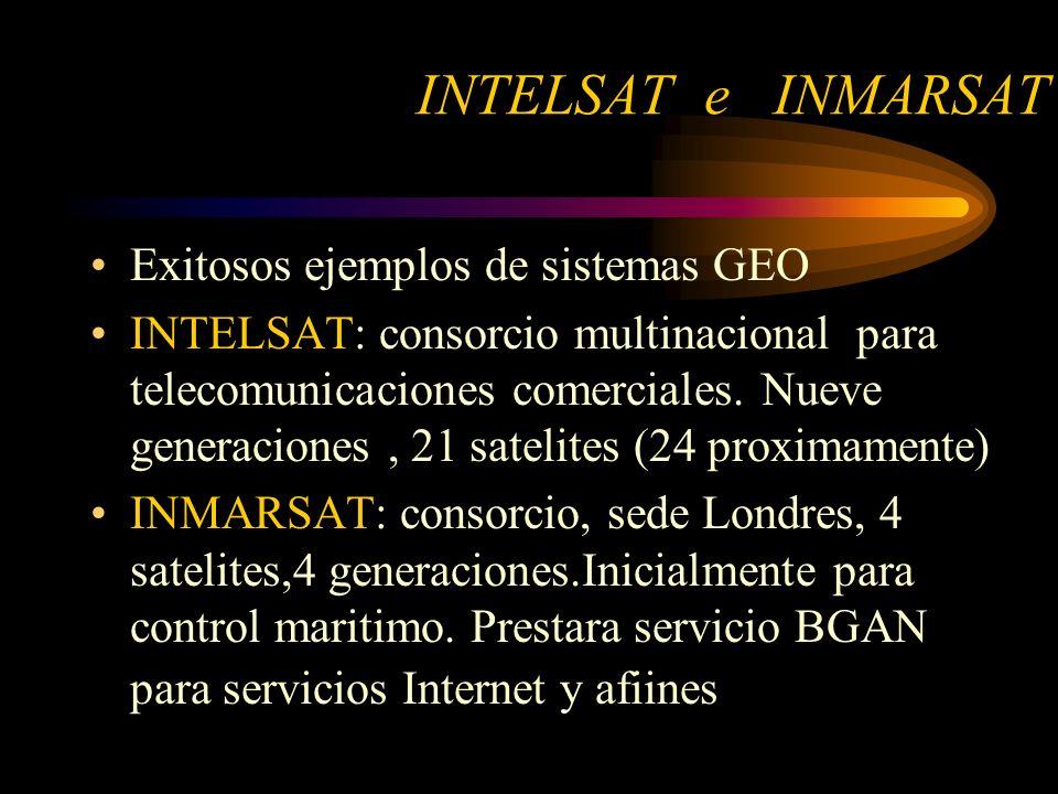 INTELSAT e INMARSAT Exitosos ejemplos de sistemas GEO