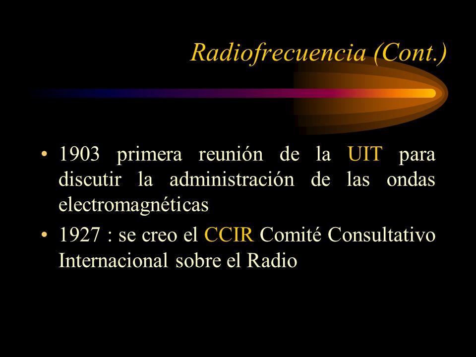 Radiofrecuencia (Cont.)