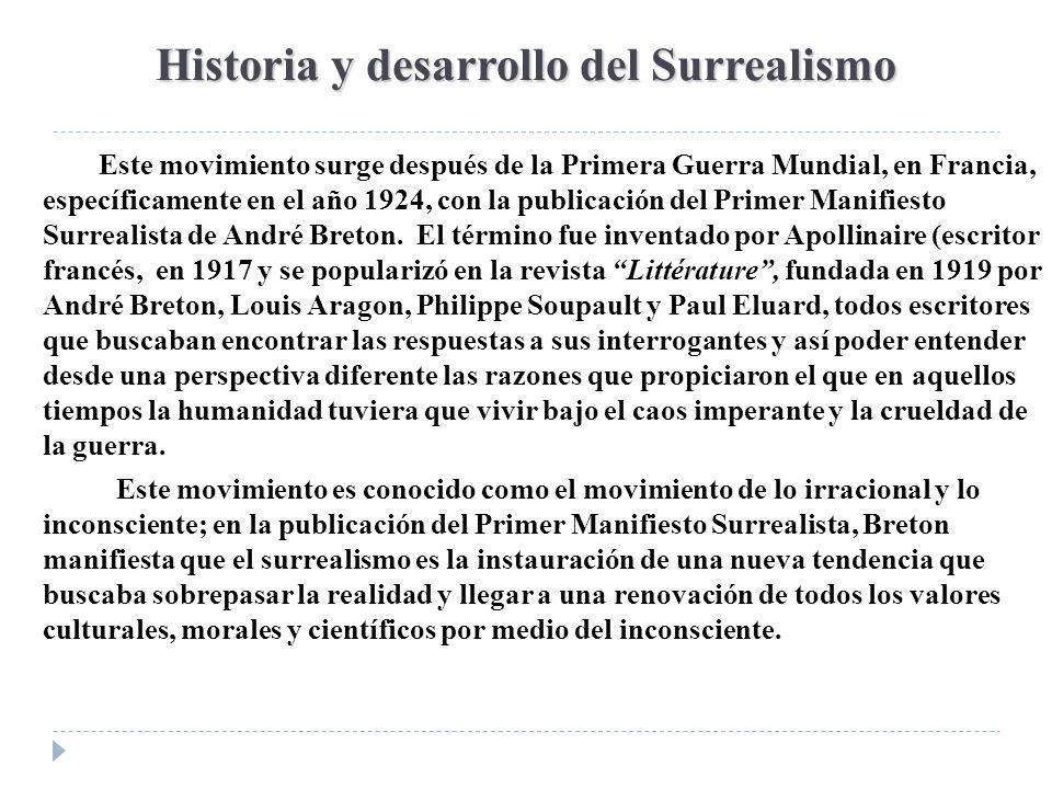 Historia y desarrollo del Surrealismo