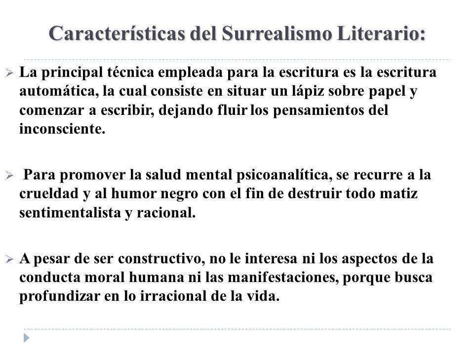 Características del Surrealismo Literario: