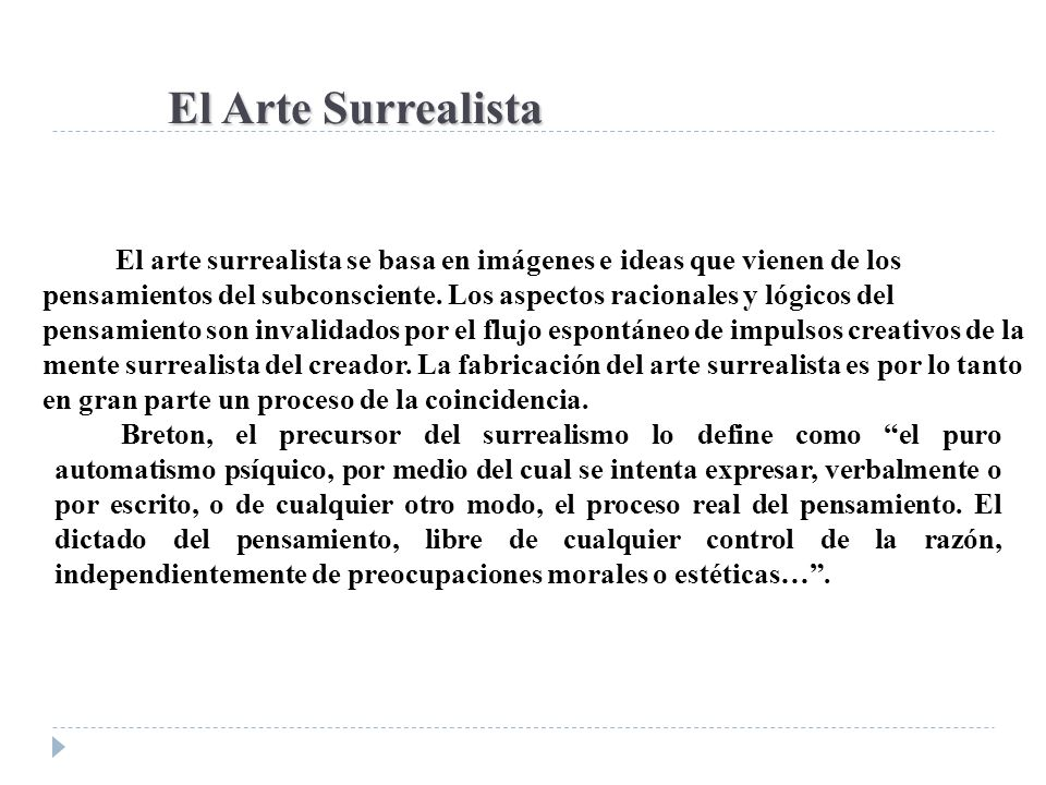 El Arte Surrealista
