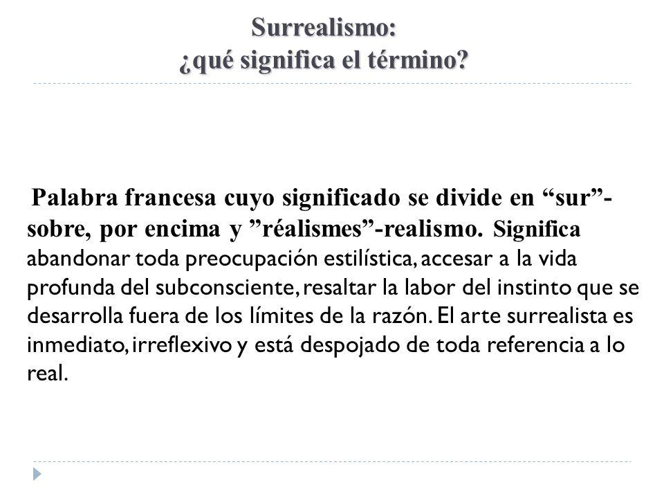 Surrealismo: ¿qué significa el término