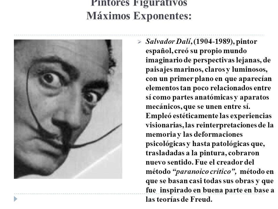 Pintores Figurativos Máximos Exponentes: