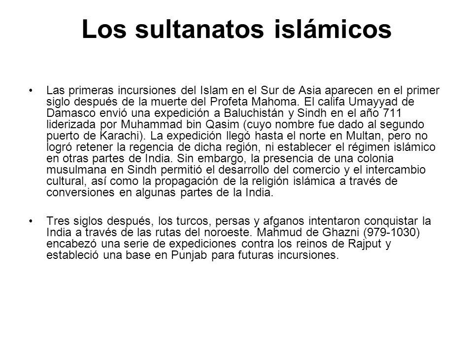 Los sultanatos islámicos