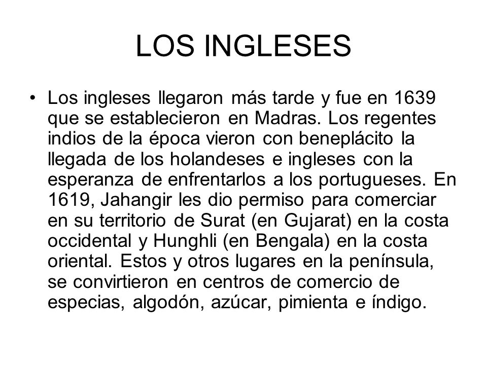 LOS INGLESES