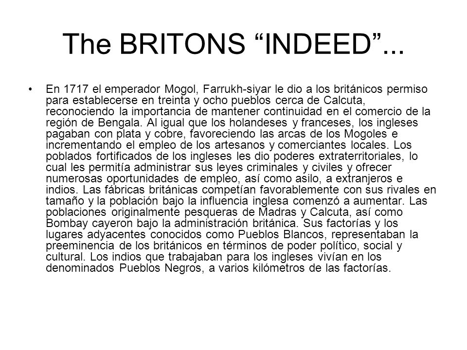 The BRITONS INDEED ...