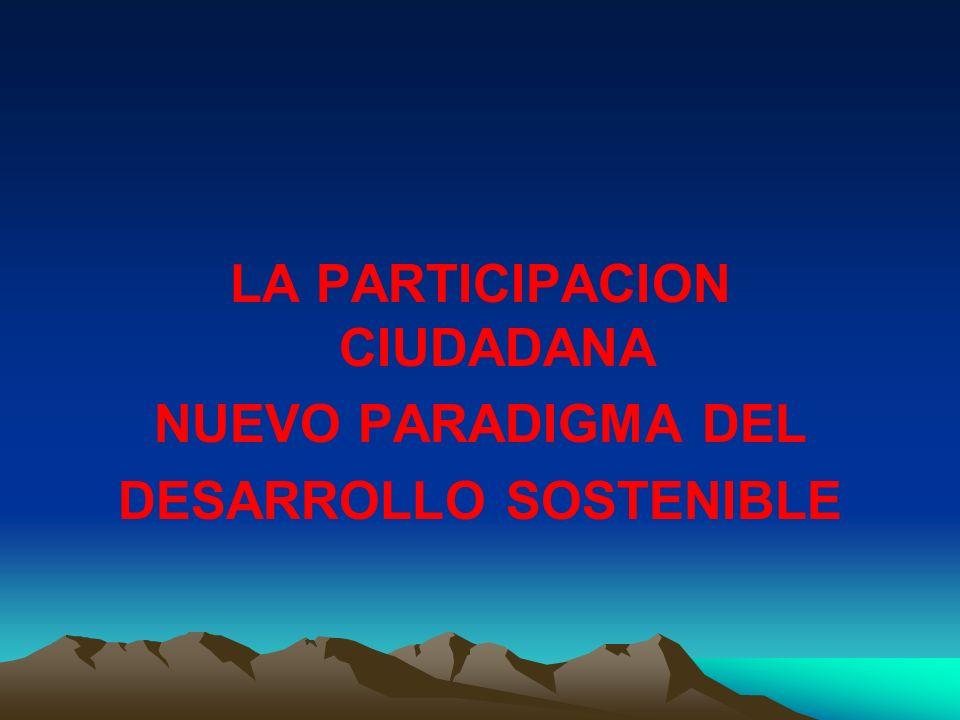 LA PARTICIPACION CIUDADANA DESARROLLO SOSTENIBLE