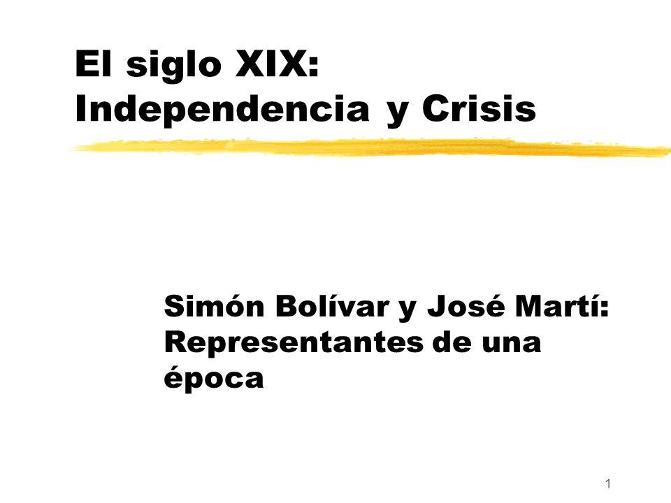 El siglo XIX: Independencia y Crisis