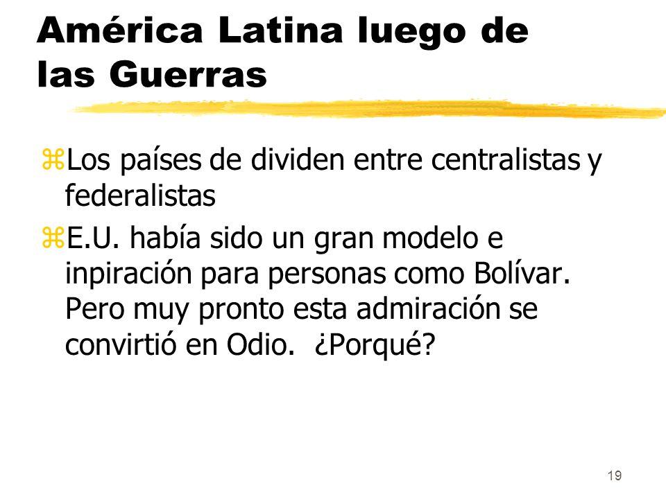América Latina luego de las Guerras