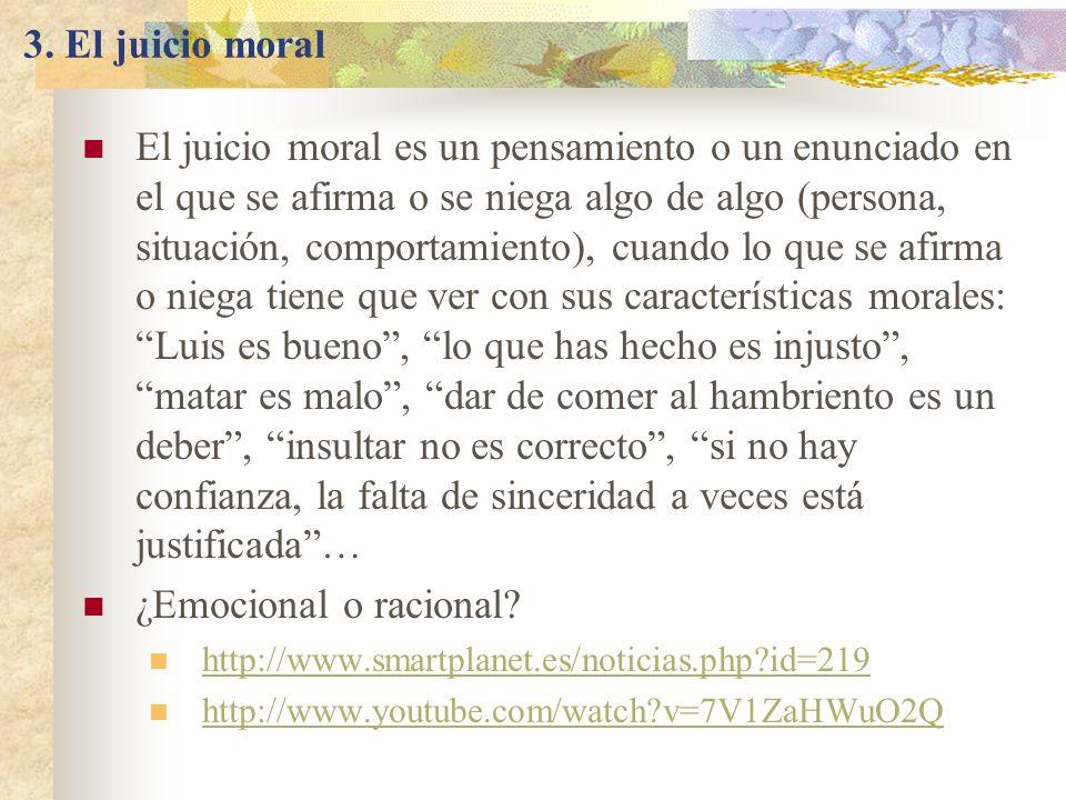 3. El juicio moral