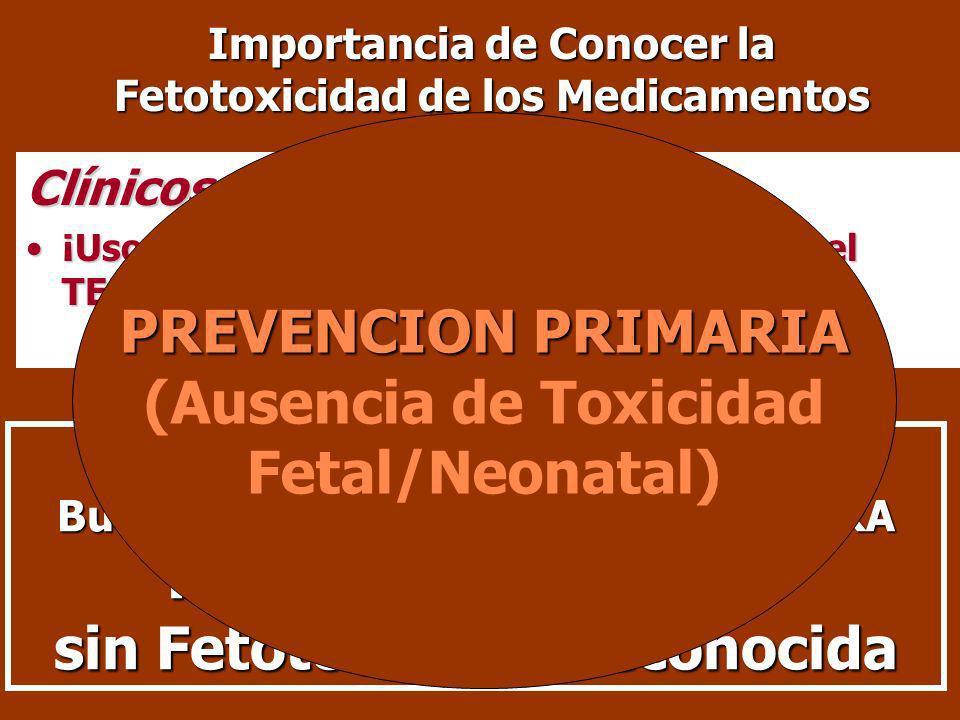 Importancia de Conocer la Fetotoxicidad de los Medicamentos