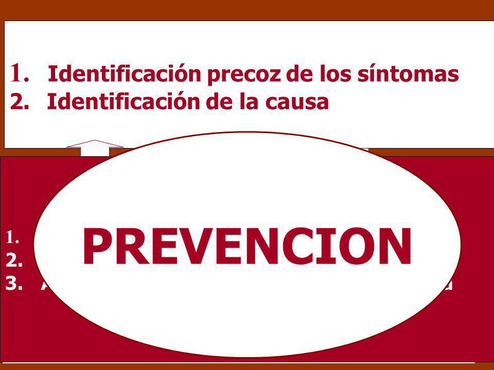 PREVENCION Identificación precoz de los síntomas OPCION 2: