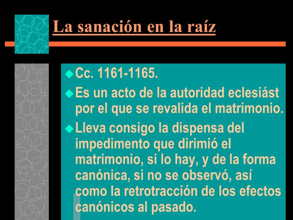 La sanación en la raíz Cc. 1161-1165.