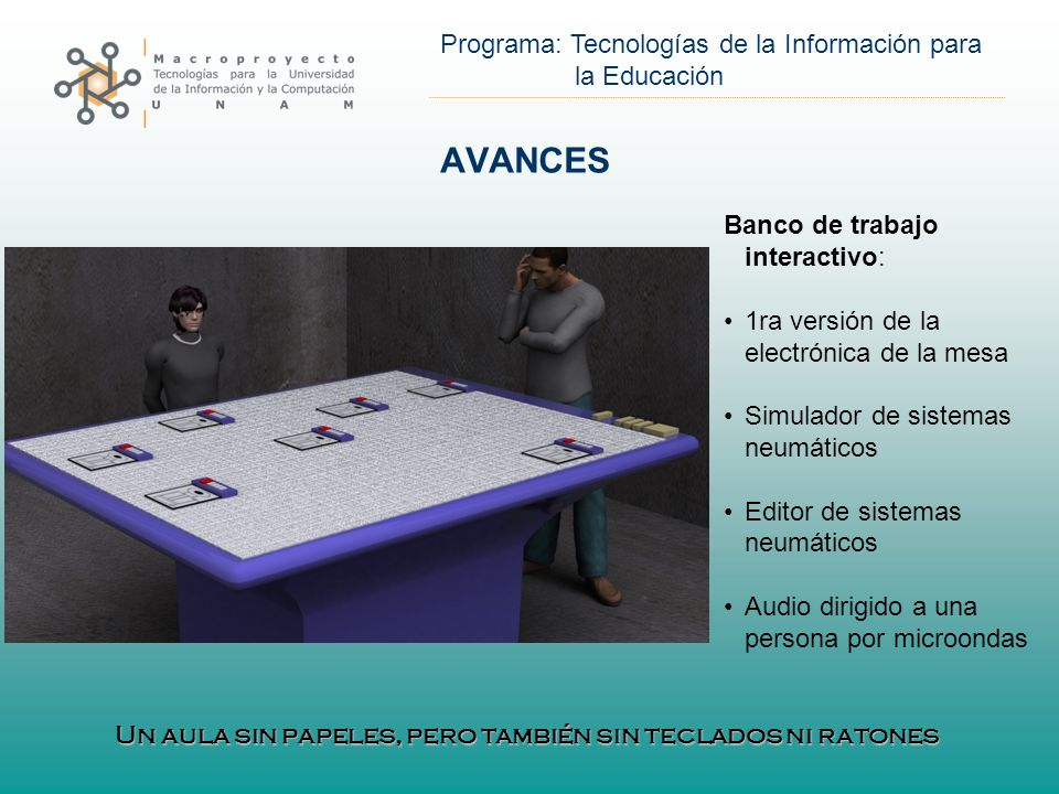 AVANCES Banco de trabajo interactivo: