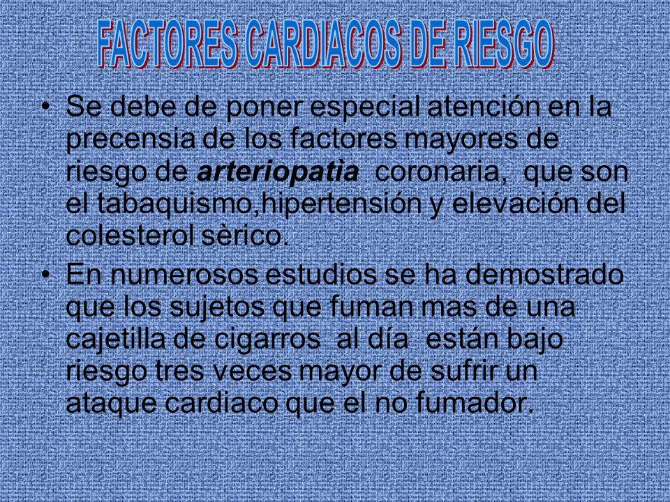 FACTORES CARDIACOS DE RIESGO