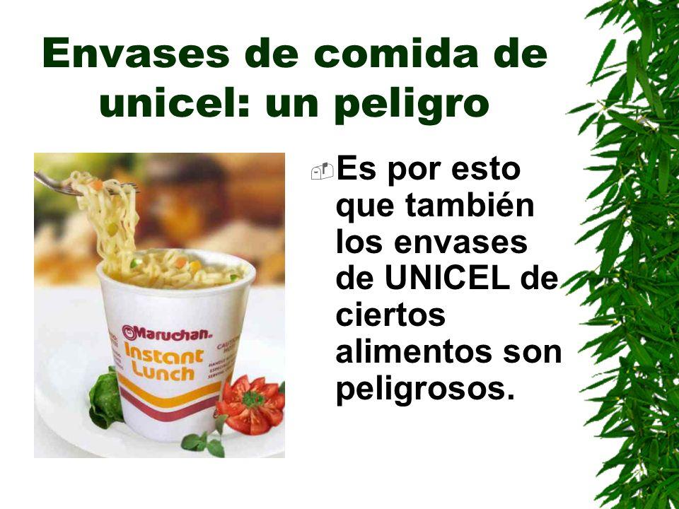 Envases de comida de unicel: un peligro