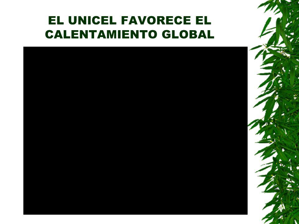 EL UNICEL FAVORECE EL CALENTAMIENTO GLOBAL
