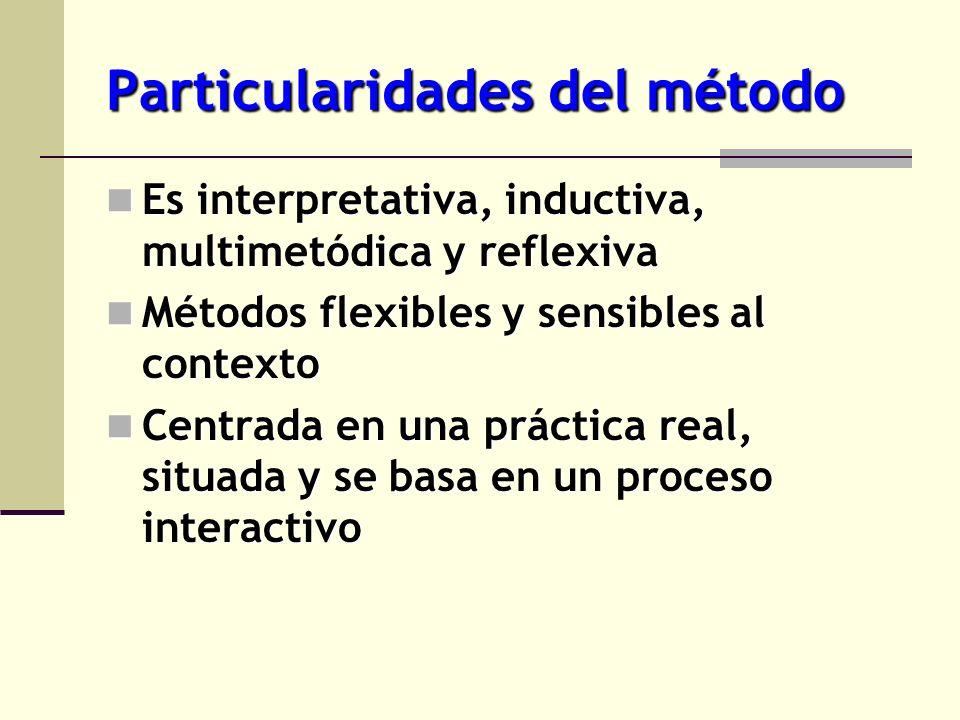 Particularidades del método