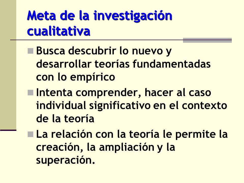 Meta de la investigación cualitativa