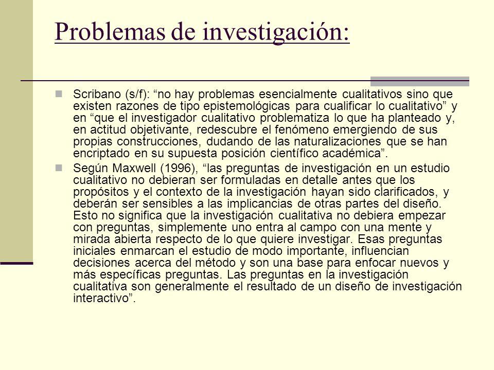 Problemas de investigación: