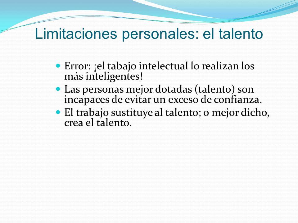 Limitaciones personales: el talento